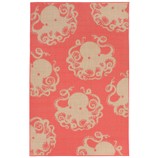 Terrace Octopus Coral Indoor Outdoor Rug