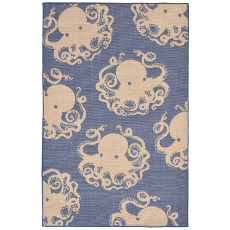 Terrace Octopus Marine Indoor Outdoor Rug