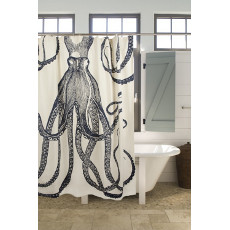 Octopus Shower Curtain - Ink
