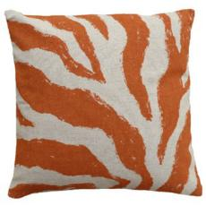 Zebra Orange Linen Pillow