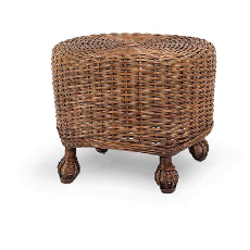 Eastern Shore Wicker Ottoman