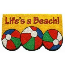 Life'S A Beach Non Slip Coconut Fiber Doormat