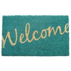 Cursive Welcome Non Slip Coconut Fiber Doormat