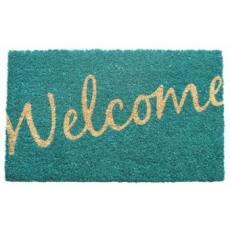 Cursive Welcome Non Slip Coconut Fiber Doormat
