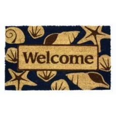 Beach Welcome  Non Slip Coconut Fiber Doormat