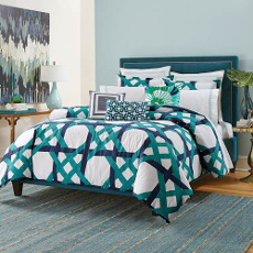 Pacifica Pier Lattice King Size Comforter Set