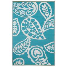 Paisley - River Blue And White Indoor- Outdoor Rug