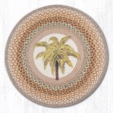 Palm Tree Round  Rug