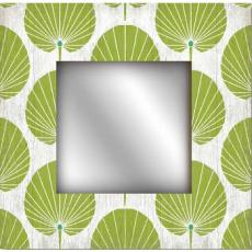Green Palm Leaf Wall Mirror