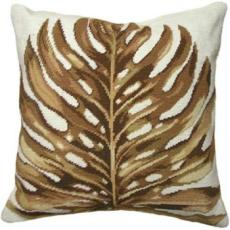 Palm Leaf Needlepoint Pillow