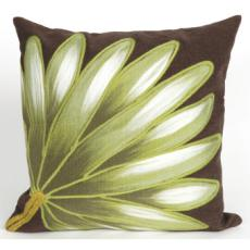 Palm Fan Chocolate Indoor Outdoor Pillow