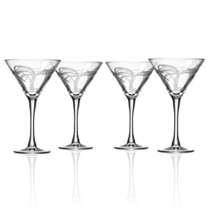 Palm Tree Martini Glasses (Set of 4)