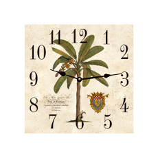 Palm Tree Clock  Square