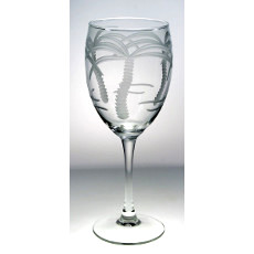 Palm Tree White Wine Goblet 10.5oz set of 4