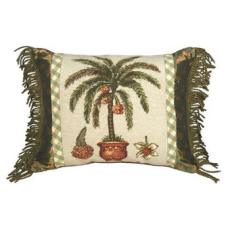 Palm Tree Needlepoint Pillow