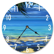 Palm Tree Shadows Wall Clock
