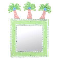 Wood Palm Tree Mirror