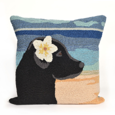 Paradise Girl Ocean Indoor Outdoor Pillow