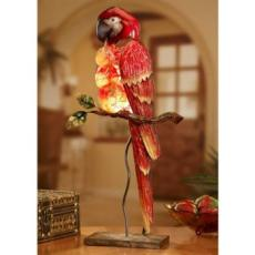 Parrot Capiz Shell Electric Luminary