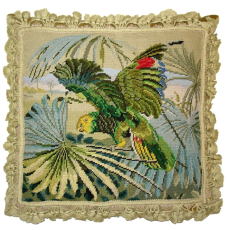Parrot Needlepoint Pillow