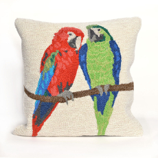 Parrots Indoor Outdoor Pillow