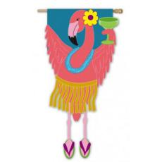 Flamingo Party Garden Flag