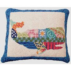 Patchwork Whale Hook Pillow