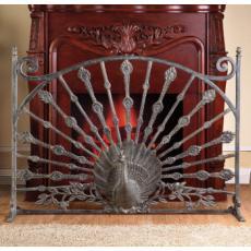Fireplace Screen Peacock Art