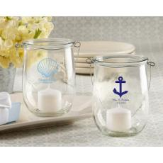 Personalized Anchor or Shell Candle Holder Set of 24