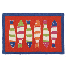 Picket Fish Orange Hook Rug