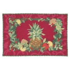 Pineapple Holiday Hook Rug