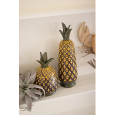 Ceramic Pineapple Canisters Set of 2
