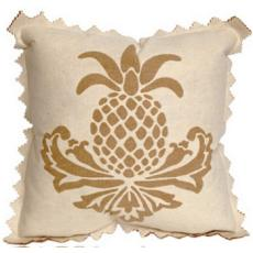 Pineapple Cream Indoor Outdoor Pillow