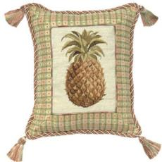 Pineapple Needlepoint Pillow