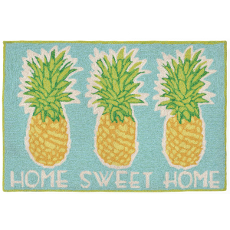 Home Sweet Home  Pineapple Indoor Outdoor Rug