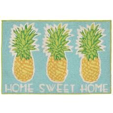 Home Sweet Home  Pineapple Indoor Outdoor Rug