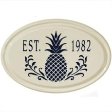Personalized Pineapple Ceramic Plaque
