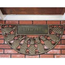 Personalized Pineapple Door Mat