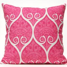 Spade Ogee Pillow - Pink