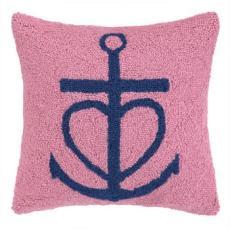 Pink Anchor Hook Pillow