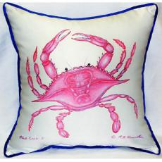 Pink Crab Indoor Outdoor Pillow