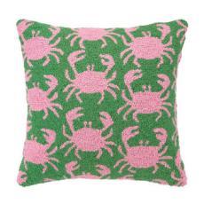 Crab Shack Green Hook Pillow