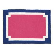 Modern Pink/Blue/White Rug