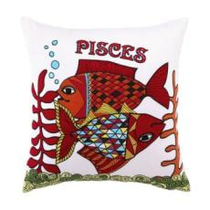 Horoscope Pisces Embroidered Pillow