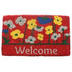 Poppies Welcome Coconut Fiber Doormat
