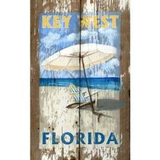 Umbrella Rustic Wood Wall Art