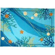 Underwater Coral & Starfish Rug in 5 Sizes