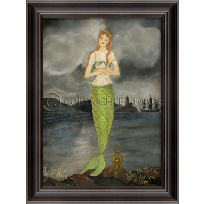 Providing Safe Harbor - Mermaid Framed Art
