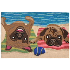Pug Life Indoor Outdoor Rug