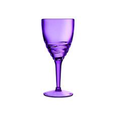 Swirl Acrylic Wine Glasses - Purple set of 6